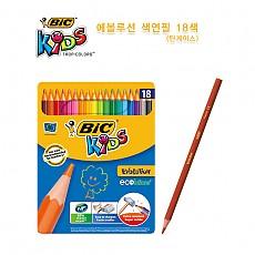[BIC]에볼루션 메탈 색연필18색